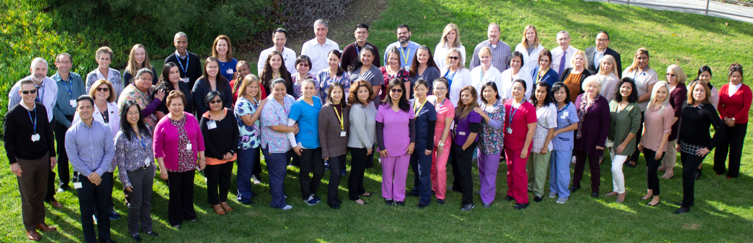 UC Irvine Student Health Center group photo