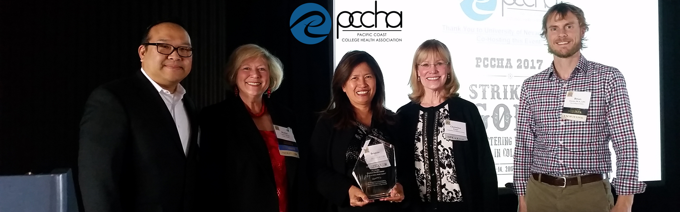 UCI Student Health Center recently honored with the Golden Gull award from Pacific Coast College Health Association